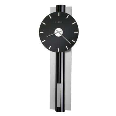 HUDSON WALL CLOCK BLK/NIC